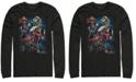 Marvel Men's Avengers Endgame Group Action Pose, Long Sleeve T-shirt