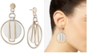 DKNY Two-Tone Orbital Drop Earrings