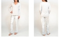 Tahari Long Sleeve and Pant Pajama Set, Online Only