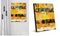 Creative Gallery Shikoku in Yellow Abstract Acrylic Wall Art Print Collection