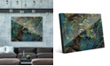 """Creative Gallery Encrusted Industrial Onlooker in Canary Abstract 24"""" x 36"""" Acrylic Wall Art Print"""