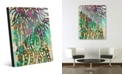 Creative Gallery Psychedelic Jelly Fish in Green Abstract Acrylic Wall Art Print Collection