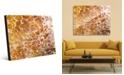 Creative Gallery Orange Yellow Blotch Spots Abstract Acrylic Wall Art Print Collection
