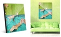 Creative Gallery Duality Grunge Green Teal Abstract Acrylic Wall Art Print Collection