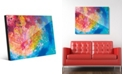 Creative Gallery Vibrant Scarlet Willow Tree Abstract Acrylic Wall Art Print Collection