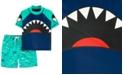 Carter's Toddler Boys 2-Pc. Shark Rash Guard & Swim Trunks Set