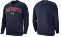 Nike Men's New England Patriots Fleece Club Crew Sweatshirt