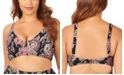 Raisins Curve Trendy Plus Size Juniors' Wild Romance Printed Byron V-Wire Bikini Top