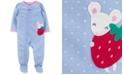 Carter's Baby Girls 1-Pc. Mouse Dot-Print Footie Pajama