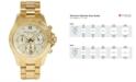 Michael Kors Women's Layton Gold-Tone Stainless Steel Bracelet Watch 38mm MK5531