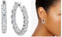 """Macy's IGI Certified Diamond Small Hoop Earrings (4 ct. t.w.) in 14k White Gold, 1"""""""