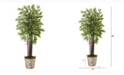 Nearly Natural 5.5ft. Bamboo Artificial Tree in Farmhouse Planter