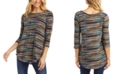 Karen Kane Printed Shirttail Top