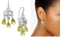 Charter Club Silver-Tone Crystal & Stone Chandelier Earrings, Created for Macy's