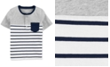 Carter's Toddler Boys Cotton Striped Pocket Henley Shirt