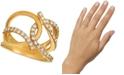 Le Vian Nude Diamond (7/8 ct. t.w.) Interlocking Statement Ring in 14k Gold