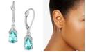 Macy's Aquamarine (1-3/4 ct. t.w.) & Diamond Accent Drop Earrings in 14k White Gold