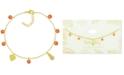 Kona Bay Pineapple & Bead Ankle Bracelet in Gold-Plate