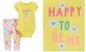 Carter's Baby Girls 2-Pc. Cotton Floral Bodysuit & Leggings Set