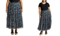 Lauren Ralph Lauren Plus-Size Floral Tiered Georgette Skirt