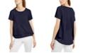 Michael Kors Layered-Look Split-Back Top, Regular & Petite