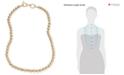 """Lauren Ralph Lauren Gold-Tone Metal Bead 20"""" Collar Necklace"""