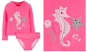 Carter's Toddler Girls 2-Pc. Seahorse Rash Guard Set