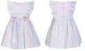 Bonnie Baby Baby Girls Metallic Striped Seersucker Dress
