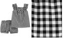 Carter's Baby Girls 2-Pc. Gingham-Print Cotton Top & Shorts Set