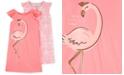 Carter's Little & Big Girls 2-Pack Flamingo-Print Nightgowns Set
