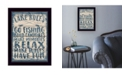 Trendy Decor 4U Trendy Decor 4U Lake Rules by Misty Michelle, Ready to hang Framed Print Collection