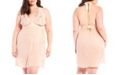 iCollection Plus Size Chloe Halter Babydoll Chemise Nightgown, Online Only