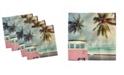 "Ambesonne Surf Set of 4 Napkins, 12"" x 12"""