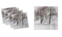 "Ambesonne Tree Set of 4 Napkins, 12"" x 12"""