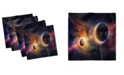 """Ambesonne Outer Space Set of 4 Napkins, 12"""" x 12"""""""