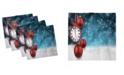 "Ambesonne Clock Set of 4 Napkins, 12"" x 12"""