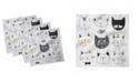 "Ambesonne Cat Set of 4 Napkins, 12"" x 12"""