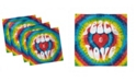 """Ambesonne 70s Party Set of 4 Napkins, 12"""" x 12"""""""