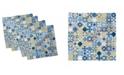 "Ambesonne Morrocco Squares Set of 4 Napkins, 12"" x 12"""