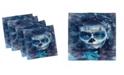 "Ambesonne Sugar Skull Set of 4 Napkins, 12"" x 12"""