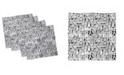 "Ambesonne Doodle Set of 4 Napkins, 12"" x 12"""