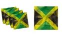 "Ambesonne Jamaican Set of 4 Napkins, 12"" x 12"""