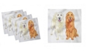 """Ambesonne Smiling Dogs Set of 4 Napkins, 12"""" x 12"""""""