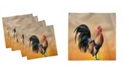 """Ambesonne Rooster Set of 4 Napkins, 12"""" x 12"""""""