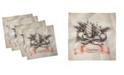 "Ambesonne Vintage-Like Christmas Set of 4 Napkins, 12"" x 12"""