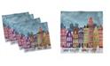 "Ambesonne Amsterdam Set of 4 Napkins, 12"" x 12"""