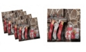 "Ambesonne Fireplace Set of 4 Napkins, 12"" x 12"""