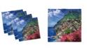 "Ambesonne Italy Set of 4 Napkins, 18"" x 18"""