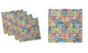 "Ambesonne City Set of 4 Napkins, 18"" x 18"""