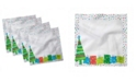 """Ambesonne Party Set of 4 Napkins, 18"""" x 18"""""""